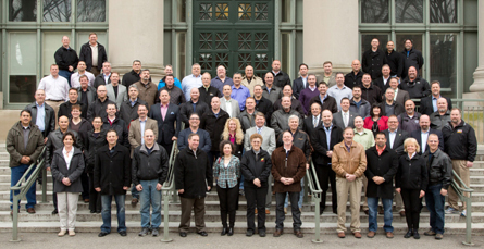 Pictured above are leaders from police unions and associations from the 50 largest cities in the United States.