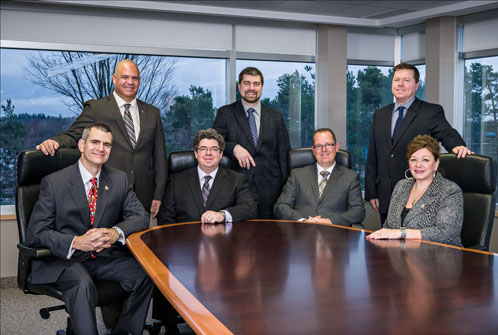 Standing (L to R) Chris Hoffman, Thomas Kaudelka, Martin Bain. Seated (L to R) Doug Lewis, Todd Provost, Jim Christie, Lee McBain