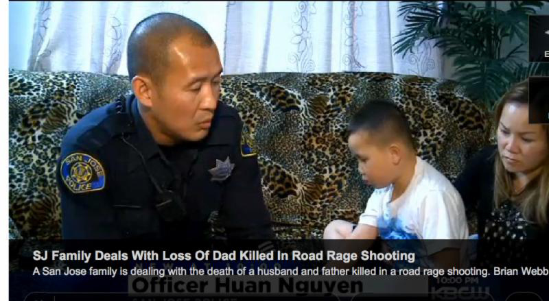 "San Jose Police Officer Huan Nguyen, who patrols the area where the shooting happened, took it upon himself to do something and established the web page to collect donations. ""Especially in the long run, they're gonna need it, every single penny that we can give to them, because this story is gonna fade out, and who's going to remember those kids?"" Nguyen said."